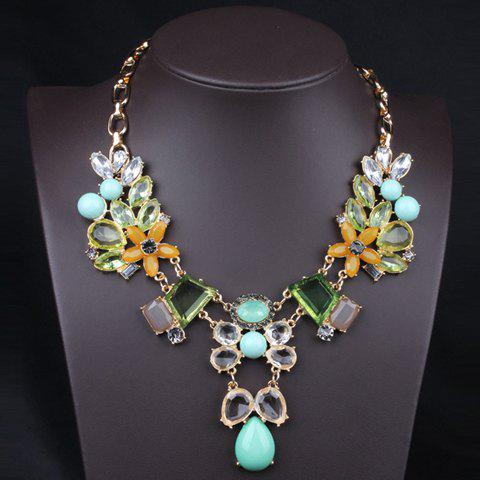 Stylish Candy Color Floral Pattern Sweater Chain For Women - COLORMIX