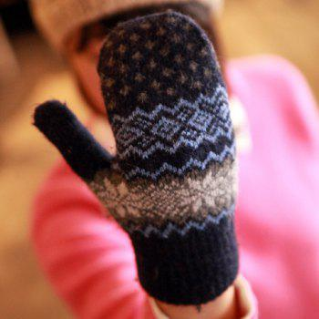 Pair of Sweet Geometric Pattern Gloves For Women - COLOR ASSORTED