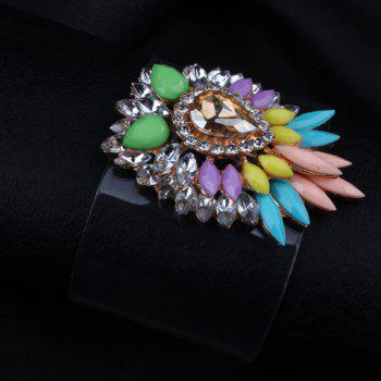 Sweet Fashion Women's Colored Rhinestone Embellished Floral Bracelet