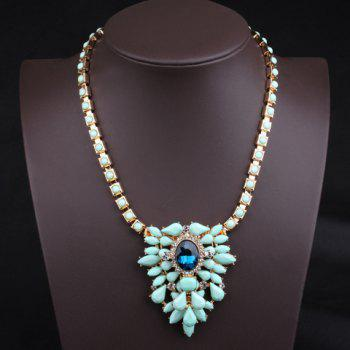 Stylish Chic Women's Ice Cream Color Beads Drop Design Necklace