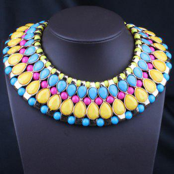 Chic Bohemia Women's Colored Beads Decorated Detachable Collar Necklace