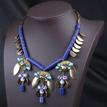 Ethnic Style Faux Gem Pendant Women's Necklace - AS THE PICTURE