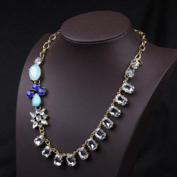 Elegant Faux Gem Decorated Geometric Women's Necklace - AS THE PICTURE