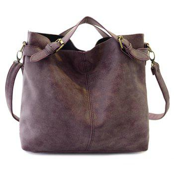 Simple Style Solid Color and Buckle Design Tote Bag For Women