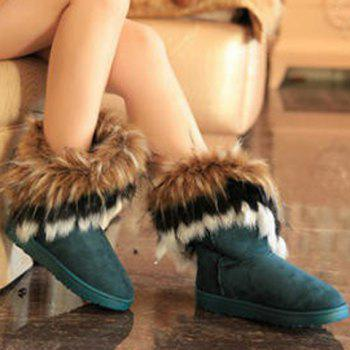 Faux Fur Ankle Boots - 39 39