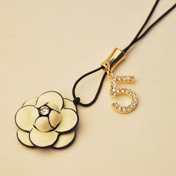 Chic Flower Pendant Women's Sweater Chain Necklace - WHITE