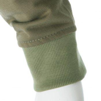 Women's Cotton Solid Color Double-breasted Fleece Lined Long Edition Stylish Coat - GREEN L