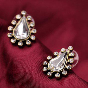 Pair of Rhinestone Water Drop Shape Stud Earrings - AS THE PICTURE