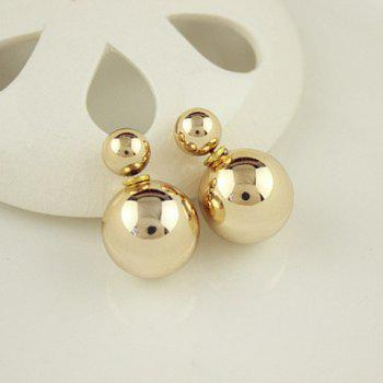 Pair of Ball Beads Design Earrings