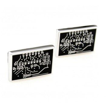 Pair of Chic Circuit Board Shape Men's Alloy Cufflinks