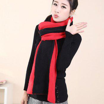 2 in 1 Keep Warm Scarf Knitted Shawl Wrap for Women -  ROSE MADDER