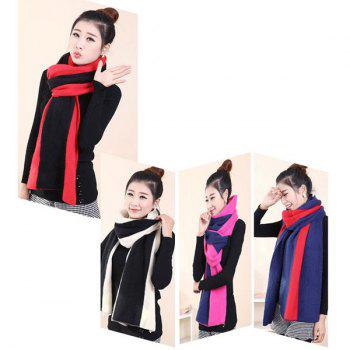 2 in 1 Keep Warm Scarf Knitted Shawl Wrap for Women - BLACK BLACK