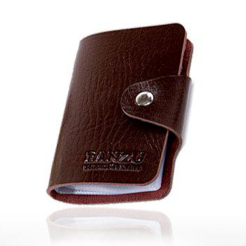 Trendy Solid Color and Button Design Card Case For Men - BROWN BROWN