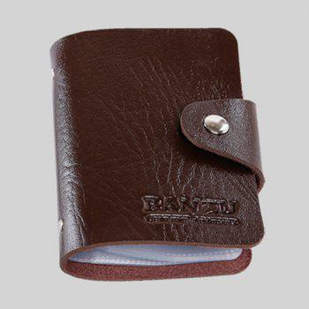 Solide Couleur Trendy et Button Card Case Design For Men - Brun