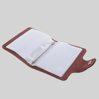 Trendy Solid Color and Button Design Card Case For Men -  BROWN