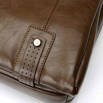 Fashionable Solid Color and Rivets Design Briefcase For Men -  LIGHT BROWN