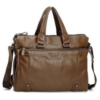 Fashionable Solid Color and Rivets Design Briefcase For Men - LIGHT BROWN LIGHT BROWN