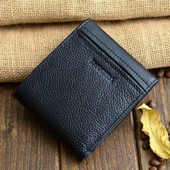 Simple Style Letter Print and Open Design Wallet For Men - BLACK