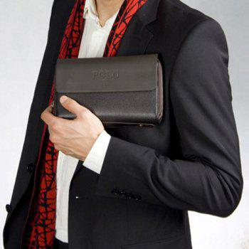 Fashionable Letter Print and Cover Design Wallet For Men -  BROWN