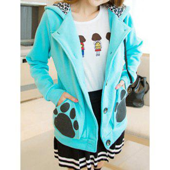 Casual Hooded Long Sleeve Coat For Women