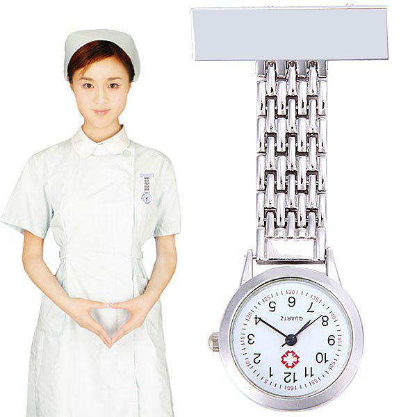 Nurse Pocket Watch Quartz Movt for Hospital - SILVER