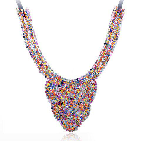 Fashion Chic Women's Beads Colored Design Necklace - AS THE PICTURE