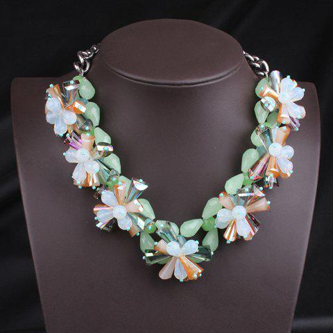 Fresh Style Candy Color Flower Shape Women's Necklace - AS THE PICTURE