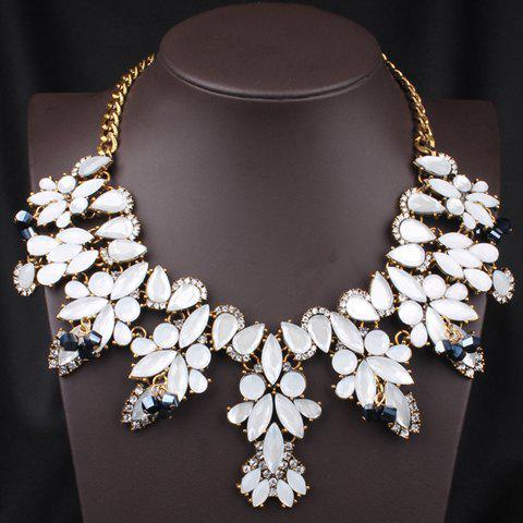 Endearing Special Shape Pendant Decorated Women's Necklace - WHITE