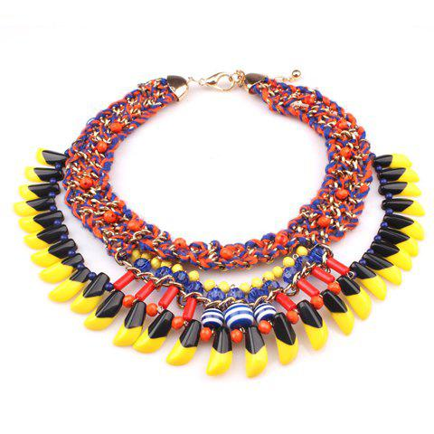 Ethnic Style Multi-Layered Womens NecklaceJewelry<br><br><br>Color: AS THE PICTURE