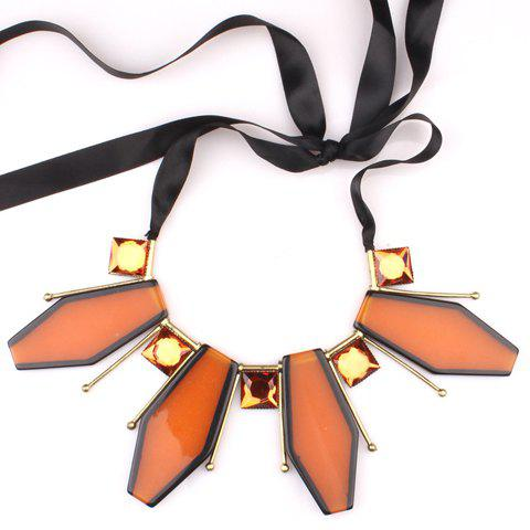 Delicate Geometric Pendant Women's Necklace -  BROWN