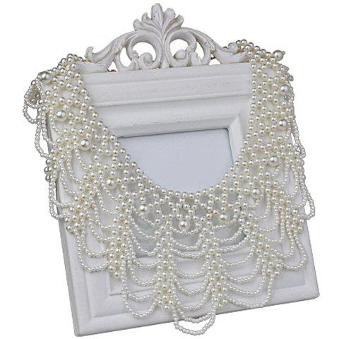 Openwork Faux Pearl Necklace