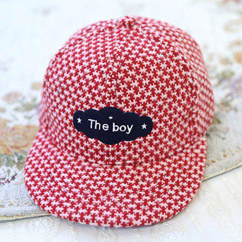Chic Badge Decorated Special Pattern Women's Baseball Cap - RED
