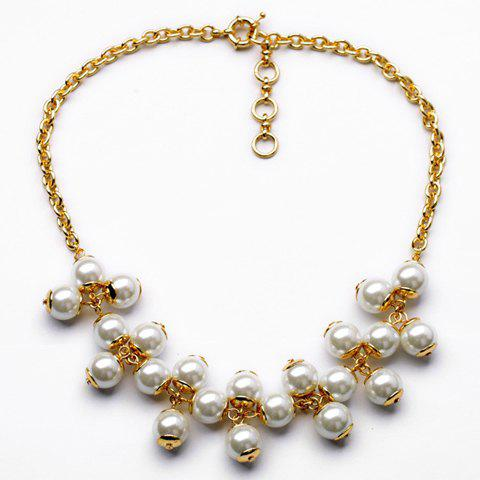 Fashion Chic Women's Faux Pearl Design Necklace - AS THE PICTURE