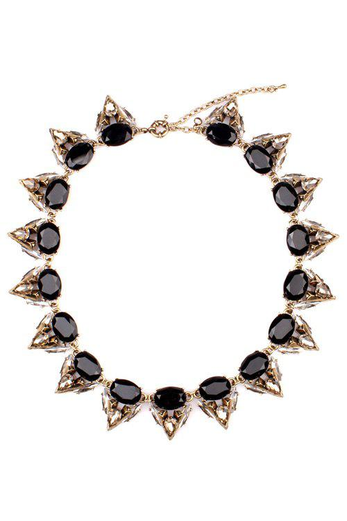 Geometric Gemstone Necklace - AS THE PICTURE