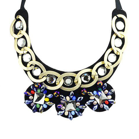 Stylish Colorful Faux Gem Women's Necklace - AS THE PICTURE