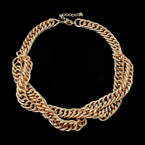 Charming Solid Color Women's Necklace - GOLDEN