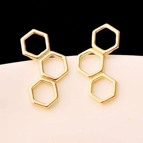 Pair of Geometric Earrings - GOLDEN
