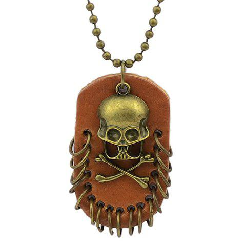 Punk Style Skull Decorated Pendant Women's Necklace - AS THE PICTURE