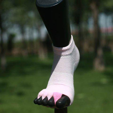 Pair of Chic Fingerless Design Solid Color Women's Socks - PINK