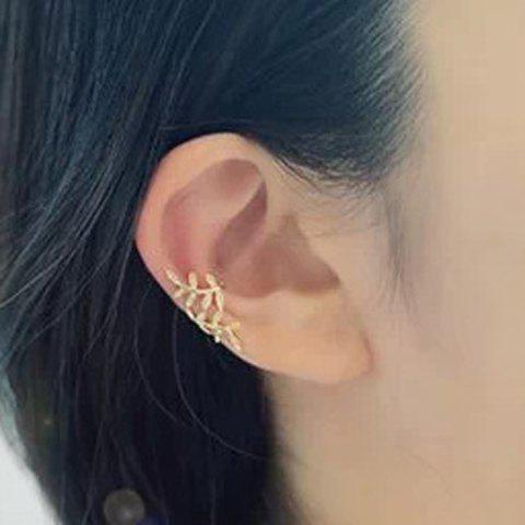 ONE PIECE Chic Stylish Women's Leaf Shape Decorated Earring - GOLDEN