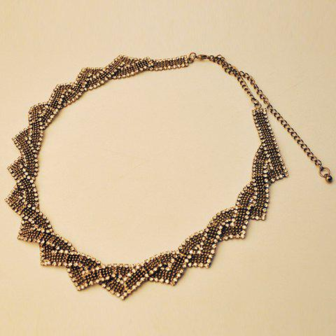 Noble Rhinestone Decorated Geometric Shape Women's Necklace - AS THE PICTURE