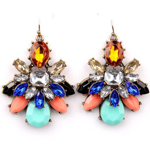 Pair of Attractive Gemstone Embellished Earrings For Women - COLORFUL