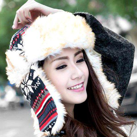 Chic Snowflake Pattern Hat For Men and Women -  COLOR ASSORTED