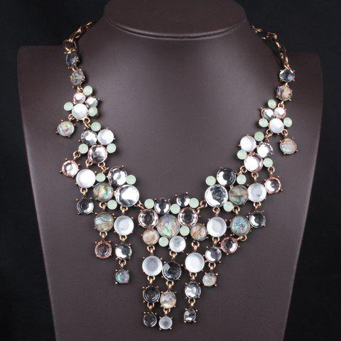 Drop Beads Pendant Necklace - AS THE PICTURE