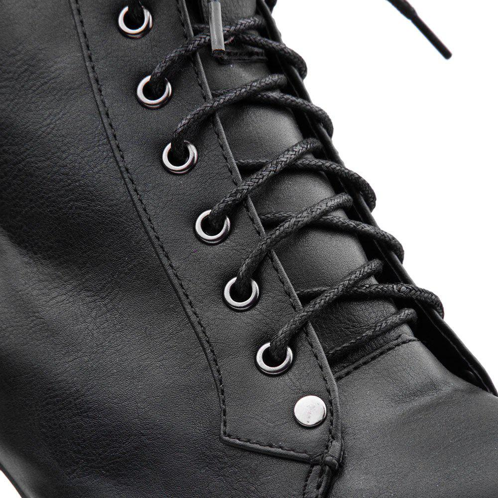 Stylish Casual PU Leather Solid Color Lace-Up Design Women's Platform Boots от Dresslily.com INT