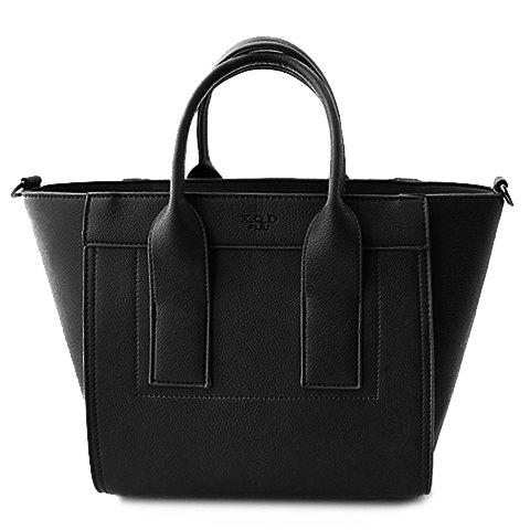 Laconic Solid Color and Letter Print Design Tote Bag For Women - BLACK