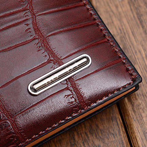 Trendy Style Crocodile Print and Zipper Design Wallet For Men - DEEP GRAY
