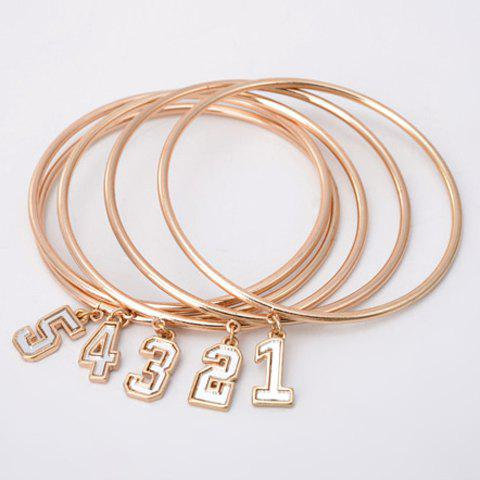 5PCS Stylish Solid Color Bracelet For Women