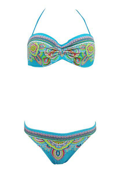 Ethnic Halterneck Printed Bikini Set For Women