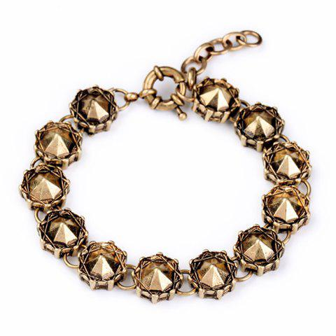 Retro Stylish Women's Rhinestone Bracelet - GOLDEN